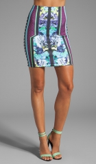 Clover Canyon Graphic Flowers Neoprene Skirt in Multi  REVOLVE at Revolve