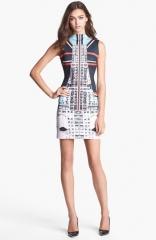 Clover Canyon Metropolis Print Scuba Sheath Dress at Nordstrom
