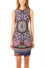 Clover Canyon Stained Glass Print Dress at Blue & Cream