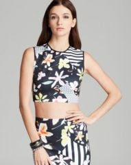 Clover Canyon Top - Floral Disc Crop at Bloomingdales