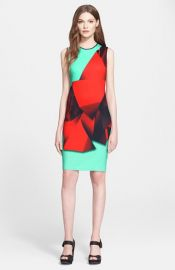 Clover Canyon and39Folded Floraland39 Print Neoprene Sheath Dress at Nordstrom