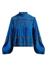 Cloverdale printed silk blouse at Matches