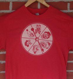 Clown Wheel Spinner Tshirt at Etsy