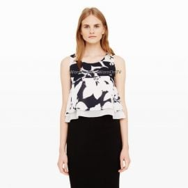 Club Monaco Sawicka Silk Crop Top at Club Monaco