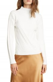 Club Monaco Cable Knit Turtleneck Sweater   Nordstrom at Nordstrom
