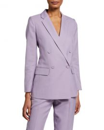 Club Monaco Double-Breasted Wool Blazer w  Covered Buttons at Neiman Marcus