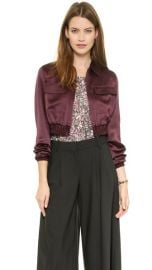 Club Monaco Seraphina Cropped Bomber Jacket at Shopbop