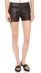 Club Monaco Stephanie Faux Leather Shorts at Shopbop