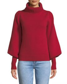 Co Boat-Neck Long-Sleeve Wool-Cashmere Sweater at Neiman Marcus