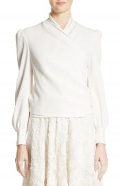 Co Crepe Wrap Blouse at Nordstrom