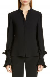 Co Essentials Ruffle Cuff Blouse   Nordstrom at Nordstrom