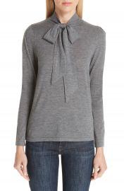 Co Essentials Tie Neck Cashmere Sweater at Nordstrom