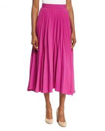 Co Reverse-Pleated Midi Skirt   Neiman Marcus at Neiman Marcus
