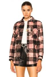 Coach 1941 Studded Plaid Top in Pink   FWRD at Forward