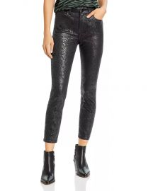Coated Skinny Ankle Jeans in Mamba Snake at Bloomingdales
