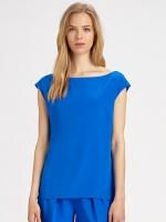 Cobalt blue blouse at Saks Fifth Avenue