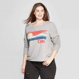 Coca-Cola Plus Size Catch The Wave Crewneck Sweatshirt at Target