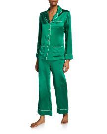 Coco Lagoon Classic Silk Pajama Set at Neiman Marcus