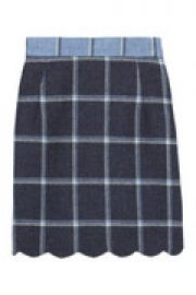 Coco checked wool mini skirt at The Outnet