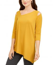 Cold-Shoulder Asymmetrical Top at Macys