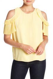 Cold Shoulder Pleat Blouse by CeCe at Nordstrom Rack