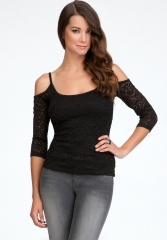 Cold Shoulder Sleeve Top at Bebe