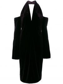 Cold-Shoulder Velvet Dress by Tom Ford at Farfetch