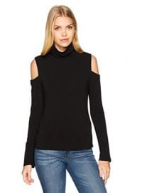 Cold Shoulder with Turtleneck Sweater at Amazon