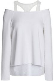 Cold-shoulder Mesh-trimmed Top at The Outnet