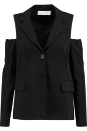 Cold shoulder blazer at The Outnet
