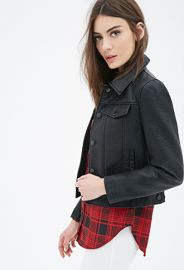 Collared Faux Leather Jacket  Forever 21 - 2000099022 at Forever 21