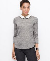 Collared linen top at Ann Taylor