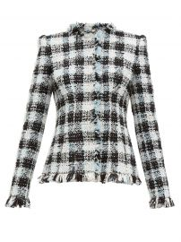 Collarless Tweed Jacket by Alexander McQueen at Matches