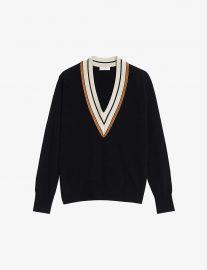 Colle contrast-trim wool and cashmere-blend jumper at Selfridges