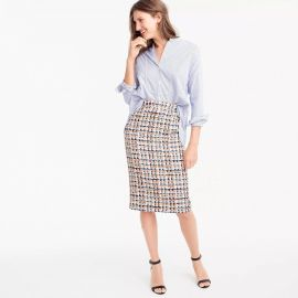 Collection Pencil Skirt in French Tweed by J. Crew at J. Crew