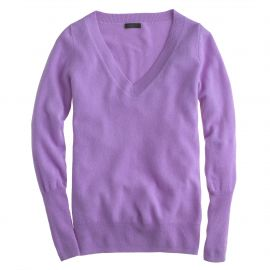 Collection cashmere V-neck sweater in Hthr Hyacinth at J. Crew