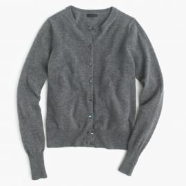 Collection cashmere cardigan sweater in hthr flannel at J. Crew