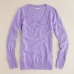 Collection cashmere purple sweater at J. Crew