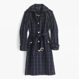 Collection trench coat in windowpane at J. Crew
