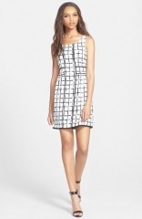Collective Concepts Print A-Line Dress at Nordstrom