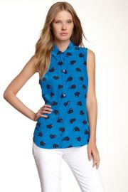 Colleen Button-Up Silk Tank at Nordstrom Rack