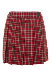 College Checked Kilt at Topshop