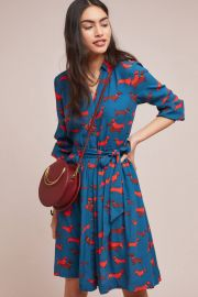 Colloquial Long-Sleeved Shirtdress at Anthropologie