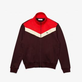 Color-Block Fleece Zip Up Sweatshirt at Lacoste