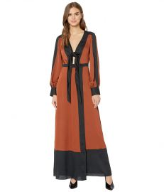 Color Block Long Dress by Bcbgmaxazria at Zappos