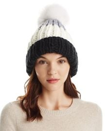 Color Block Pom-Pom Beanie by Nor La at Bloomingdales