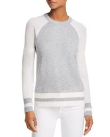 Color-Block Raglan Cashmere Sweater by AQUA Cashmere at Bloomingdales