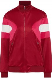 Color-Block Stretch-Knit Track Jacket by Maje at The Outnet