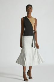 Color Block Wrap Dress by Yigal Azrouel at Yigal Azrouel