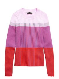 Color-Blocked Sweater Top at Banana Republic